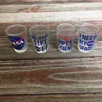 Nasa Themed Shot Glass Set of 4, 1.5 Ounce B1