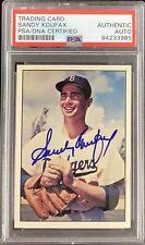 Sandy Koufax Signed 1978 TCMA Baseball Card #49 Dodgers HOF Autograph PSA/DNA