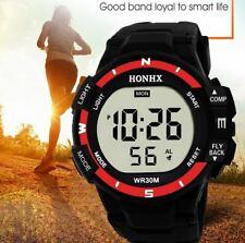Orologio Digitale Unisex HONHX Rosso Nero sportivo gomma silicone