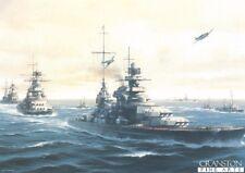 ARTE NAVALE POST CARD Admiral Hipper Gneisenau zona, tali imposte tedesco Kriegsmarine