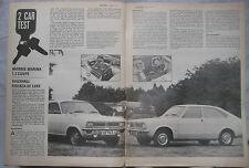 1971 Morris Marina Coupe V's Vauxhall Firenza Motor magazine test
