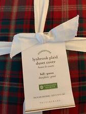 Pottery Barn Lynbrook Duvet Cover Xmas Red HolidayPlaid Full/Queen Beautiful New