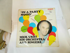 IN A PARTY MOOD MICK URRY HIS ORCHESTRA AND SINGERS  MTS8 MAESTRO REC VINYL LP
