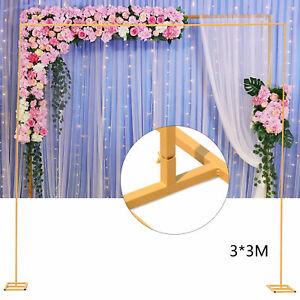 Metal Rectangle Wedding Arch Framework Wedding Party Backdrop Decoration 2*1.5m