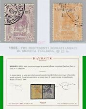 COLONIE SOMALIA 1905 BENADIR in moneta ITALIANA nn.8 e 9 US CERTIF