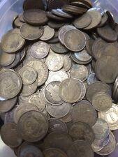LOT DE 200gr DE MORLON 50 CENTIMES 1 ET 2 FRANCS BRONZE ALUMINIUM  - A TRIER