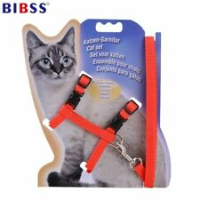 Nylon Cat Harness And Leash Set Pet Products For Animals Adjustable Dog Traction
