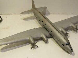 The Large Marx DC-4 Pressed Steel Toy Airplane WW2 Bomber