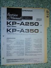 Pioneer kp-a250 a350 service manual original repair book stereo car radio tape