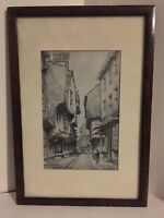 THE SHAMBLES YORK LITHOGRAPH SIGNED BY JOSEPH PIKE, FRAMED