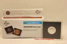 6 Gold 1/4oz Maple Leaf 2x2 Coin Snap Capsule Holder 20mm Quadrum INTERCEPT