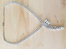 "Rhinestone Necklace, 18"", made in Korea"