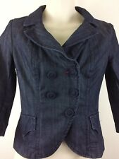 Miss Sixty Women's Size M Long Sleeve Denim Jacket Cotton Blend Made In Italy