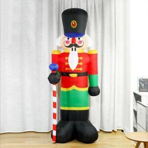 2.4m Inflatable Christmas Nutcracker Outdoor/Indoor Decor