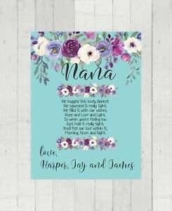 Nana Name Blanket - Gift for Nana - Grandchildren Monogrammed - Poem Writing