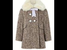 Monsoon Baby Lavender Tweed Coat 18-24 mths  RRP£46.00