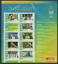 2006 Australian - Melbourne Commonwealth Games MNH Champions Sheetlet no 8