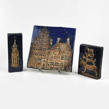 Wall Pictures Ceramics Bremen - Bremen Town Musicians - Roland - Enameled - Old