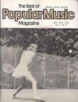 Best Of Popular Music Magazine Aug Sep 1976 Organ Vocal Guitar Mack The Knife