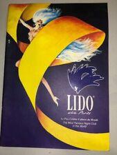 Lido De Paris Cabaret Tour Show 90s Theatre Musical Program with Large Poster