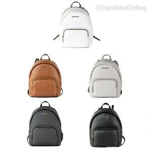 Michael Kors Erin Medium Signature Leather Zip Convertible Backpack Book Bag