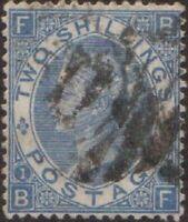 Great Britain 1867 SG118 2/- dull blue Queen Victoria FU