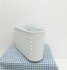 Inter Design Shower Bath Caddy White Plastic 9.5 x 6 x 3.5 Wall Suction USA Made