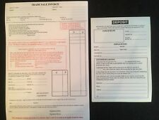 USED CAR VEHICLE SALES INVOICE TRADE SALE PAD & DEPOSIT PAD FOR CARS AND VANS