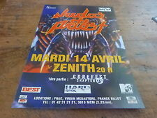 JUDAS PRIEST - Publicité de magazine / Advert CONCERT AVRIL !!!