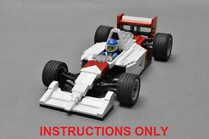 LEGO McLaren MP4/6 Formula 1 F1 Race Car - CUSTOM INSTRUCTIONS ONLY