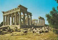 The Temple of Afaias Aegina Greece Postcard unused VGC