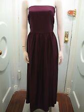 NWT Richard Ruiz L Purple Matte Silk Strapless Long Dress Fuchsia Sash in Back