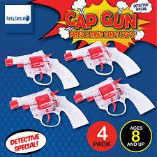 4pk Cap Gun Toy Revolver Pistol Shot Ring Caps Play Australian Standard Model
