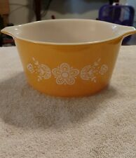 yellow ovenware pyrex  1qt