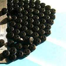 RARE 25 Mini Tiny Army Uniform Doll Clothing Eye Sew Buttons Black 4.5mm S293