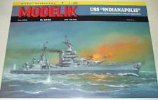 "1/200 scale US Heavy Cruiser USS ""INDIANAPOLIS"" -Paper Card Model"
