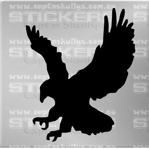 EAGLE SILHOUETTE DECAL 150mmx180mm 15 COLOURS TO CHOOSE MPN 982