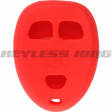 New Red Keyless Remote Key Fob Case Skin Jacket Cover Protector 3 Button