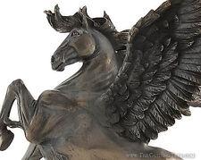 """Winged Pegasus ~ Magnificent Bronze Finish Statue ~ 11"""""""