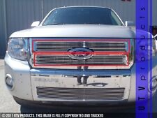 GTG 2008 - 2012 Ford Escape 2PC Polished Upper Overlay Billet Grille Grill Kit