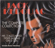 """JACK KEROUAC - """"THE COMPLETE COLLECTION """"- HIS 3 ACCLAIMED 1950s ALBUMS ON 2 CDs"""