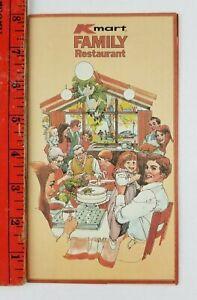 Vintage 1982? Kmart Family Restaurant Paper Foldout Dining Menu