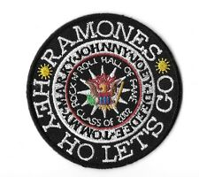 """New THE RAMONES ' Hall of Fame 2012'  3""""  Inch Iron on Patch Free Shipping"""