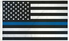 3x5 Usa Thin Blue Line UltraBreeze 5x3ft Poly Flag Grommets Super Polyester