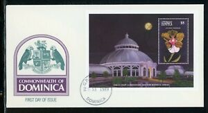 Dominica Scott #1194 FIRST DAY COVER Orchids Flowers FLORA S/S $$