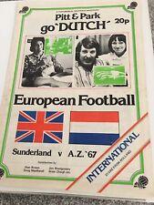 Sunderland v AZ 67 Pitt/Park 1975