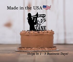 Trombone Cake Topper, Jazz Band Music, Personalized Keepsake Cake Topper, LT1331
