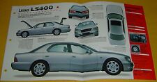 1997 1998 Lexus LS400 V8 3969cc 290 hp ESFI IMP Info/Specs/photo 15x9