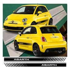 Fiat 500 595 ABARTH Side réparti Graphics Décalques Stickers Vinyle any Colours