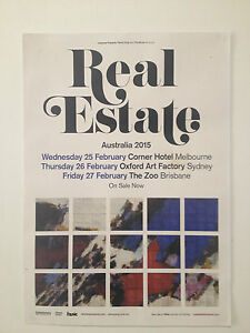 REAL ESTATE 2015 Australian Tour Poster A2 Atlas Days Reality Ducktails **NEW**